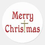 Navidad Etiqueta Redonda
