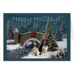 Navidad Evening2 G del perro de aguas de rey Charl Felicitaciones