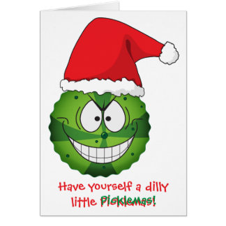 Navidad extraña divertida extraña del navidad de l tarjetón