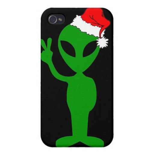 Navidad extranjero de la paz iPhone 4 cárcasa