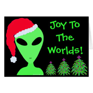 Navidad extranjero personalizado calidad Geeky de Tarjeta Pequeña
