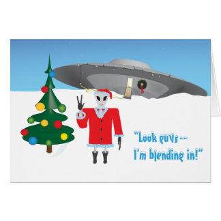 Navidad extranjero tarjeta de felicitación