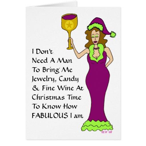 """Navidad fabuloso del vino de la diva del vino """"ape tarjeta de felicitación"""