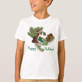Navidad Faery y regalo de la ardilla que da la Camisas