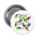 Navidad Felices y brillantes Pin