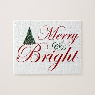 Navidad Felices y brillantes Puzzles