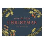 Navidad Felices y brillantes que saludan Invitación Personalizada