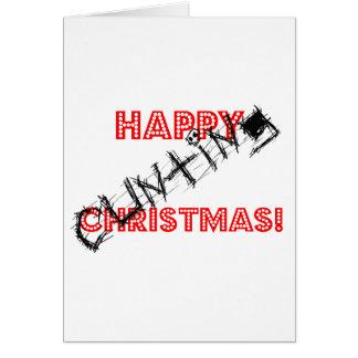 Navidad feliz de Cunting Tarjeta De Felicitación