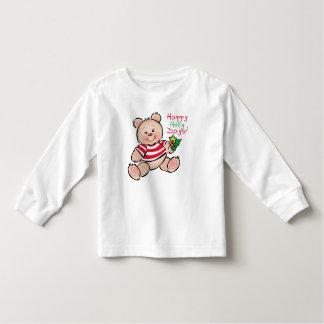 Navidad feliz de los días del acebo del oso playera de bebé