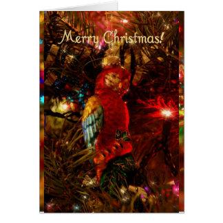 ¡Navidad feliz de ParrotHead! Tarjetón