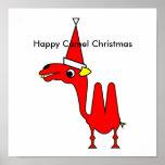 Navidad feliz del camello poster