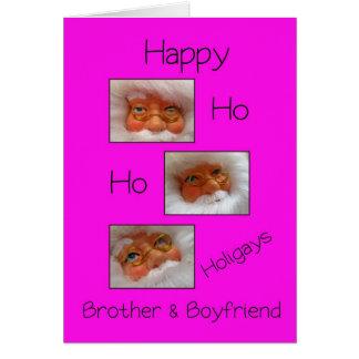 Navidad feliz del gay de los holigays del hermano  tarjeta de felicitación
