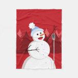 Navidad feliz del muñeco de nieve del canto