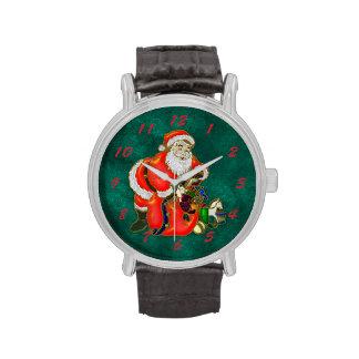 Navidad feliz del padre relojes de mano