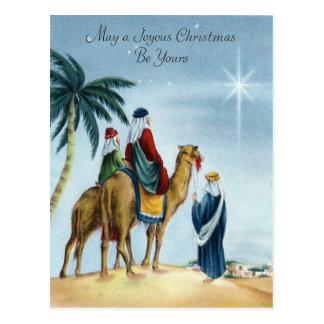 Navidad feliz del vintage tarjeta postal