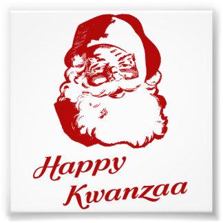 Navidad feliz Papá Noel de Kwanzaa Impresión Fotográfica