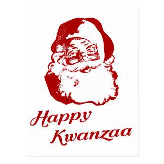 Navidad feliz Papá Noel de Kwanzaa Postal