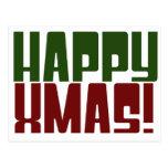 Navidad feliz postal