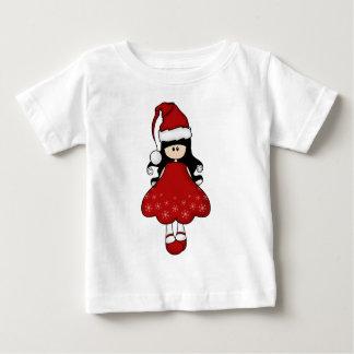Navidad femenino retro Santa Playeras
