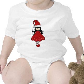 Navidad femenino retro Santa Camiseta