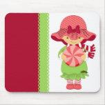 Navidad femenino rosado alfombrilla de ratones