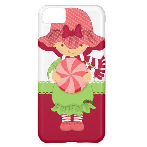 Navidad femenino rosado funda para iPhone 5C