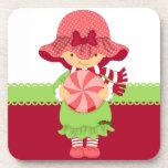 Navidad femenino rosado posavasos