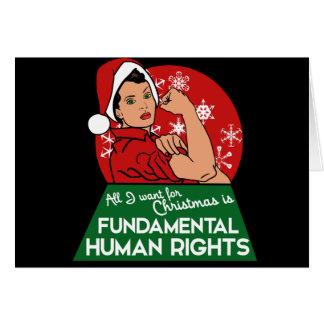 Navidad feminista tarjeta de felicitación