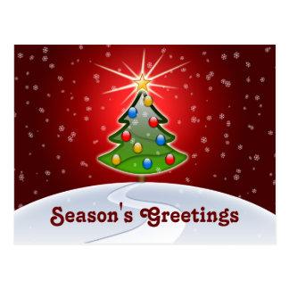 navidad festivo del negocio que saluda las postal