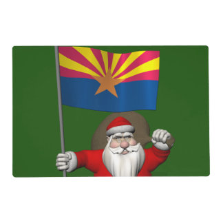 Navidad festivo del padre que visita Arizona Tapete Individual