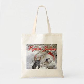 Navidad finlandés 2 del dogo bolsas de mano
