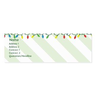 Navidad - flaco tarjeta de visita