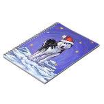 Navidad fornido libro de apuntes con espiral