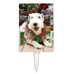Navidad - fox terrier - Annie Decoración Para Tarta