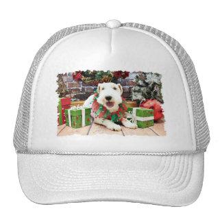Navidad - fox terrier - Annie Gorras De Camionero