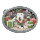 Navidad - fox terrier - Annie Hebillas De Cinturon
