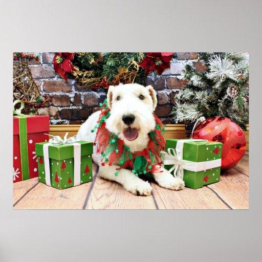 Navidad - fox terrier - Annie Impresiones