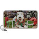 Navidad - fox terrier - Annie Laptop Altavoz