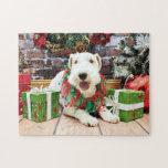 Navidad - fox terrier - Annie Rompecabeza Con Fotos