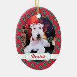 Navidad - fox terrier del alambre - Dexter Ornamente De Reyes