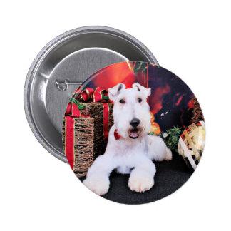 Navidad - fox terrier del alambre - Dexter Pin