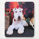 Navidad - fox terrier del alambre - Dexter Tapete De Raton