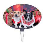Navidad - fox terrier - Sadie y Natalie Palillos De Tarta