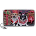Navidad - fox terrier - Sadie y Natalie Notebook Altavoces