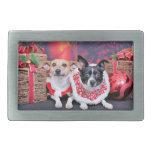 Navidad - fox terrier - Sadie y Natalie Hebillas Cinturón