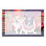 Navidad - fox terrier - Sadie y Natalie Papeleria De Diseño
