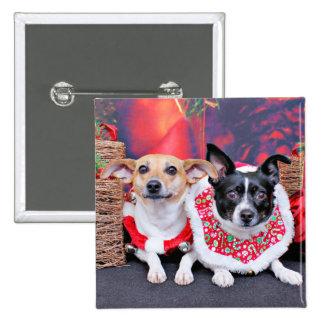 Navidad - fox terrier - Sadie y Natalie Pin