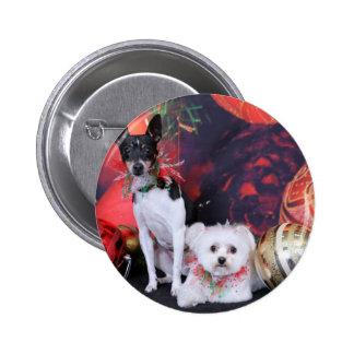 Navidad - fox terrier y maltés - Monty y Millie Pins