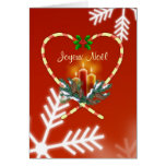 Navidad francés - bastón de caramelo, velas, pino, tarjeta de felicitación