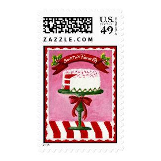 Navidad, franqueo, sellos, Santa, torta Envio